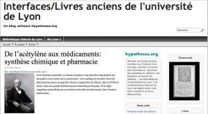 Interfaces, le carnet des livres anciens de l'université de Lyon