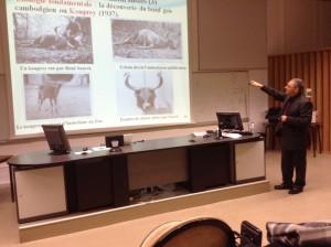 Thierry Borrel lors de sa soutenance de thèse,le 22 octobre 2014